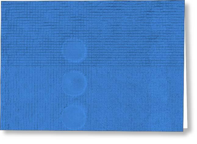 China Beach Greeting Cards - SYMBIOSIS in BLUE Greeting Card by James David Mancini