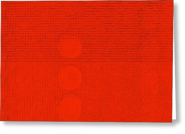 Symbiosis In Orange Greeting Card by James Mancini Heath