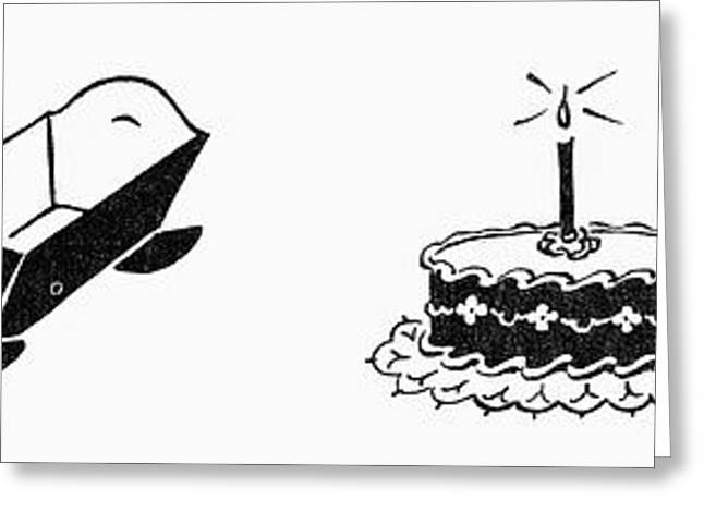 Engraving Greeting Cards - Symbols: Birthday Greeting Card by Granger