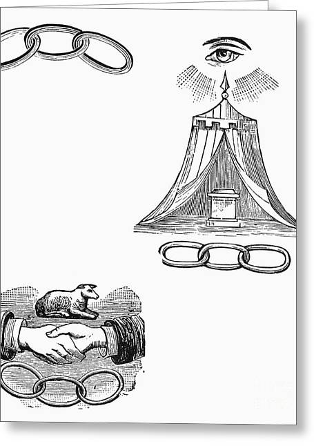 Chain-ring Greeting Cards - Symbols: Freemasonry Greeting Card by Granger