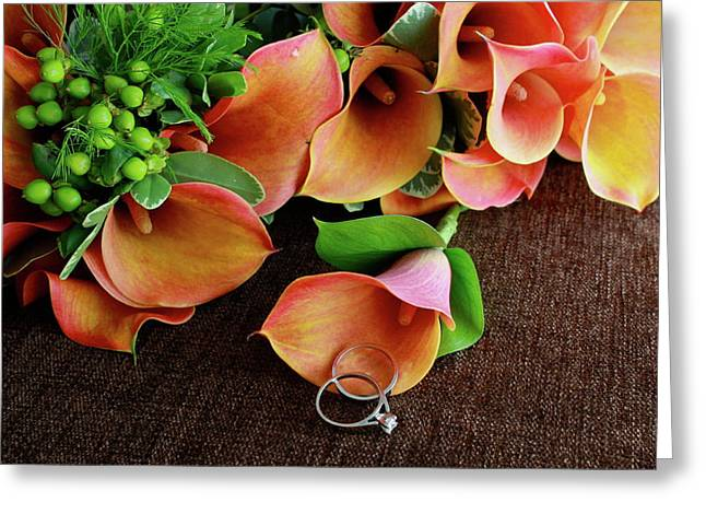 Flower Arraignment Greeting Cards - Symbols of Love and Commitment  Greeting Card by Angie Wingerd