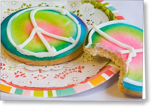Plate Of Cookies Greeting Cards - Symbols of Peace Greeting Card by Diane Macdonald