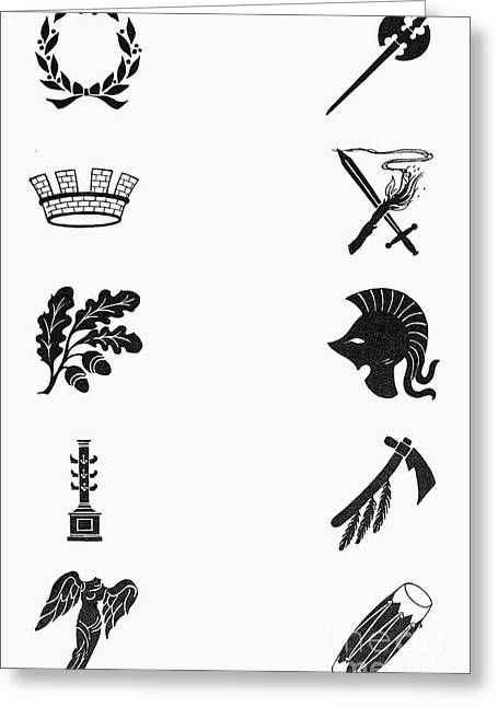 Nike Photographs Greeting Cards - Symbols: Victory And War Greeting Card by Granger