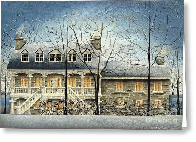 Primitive Greeting Cards - Symmes Inn Greeting Card by Catherine Holman