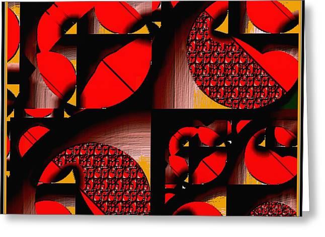 Geometric Digital Art Greeting Cards - Symmetrica 213 Greeting Card by Nedunseralathan R