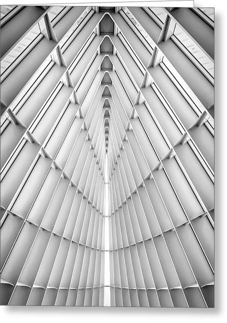 Black And White Photos Greeting Cards - Symmetry Greeting Card by Scott Norris