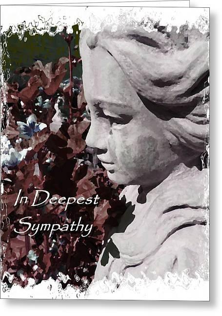 Sympathy Angel Card Greeting Card by Cindy Wright