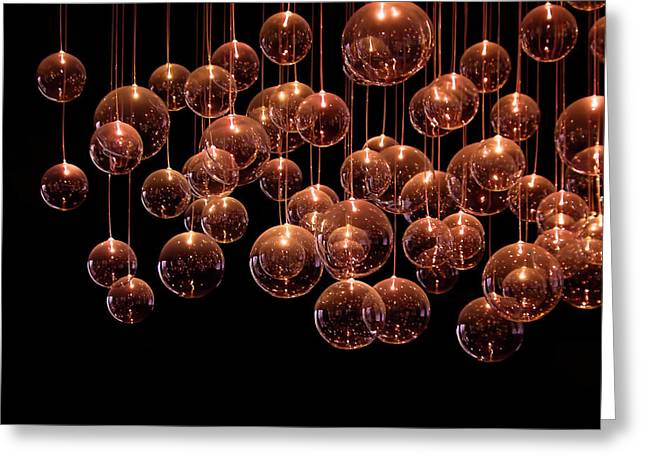 Bubble Greeting Cards - Symphony in the Dark Greeting Card by Evelina Kremsdorf
