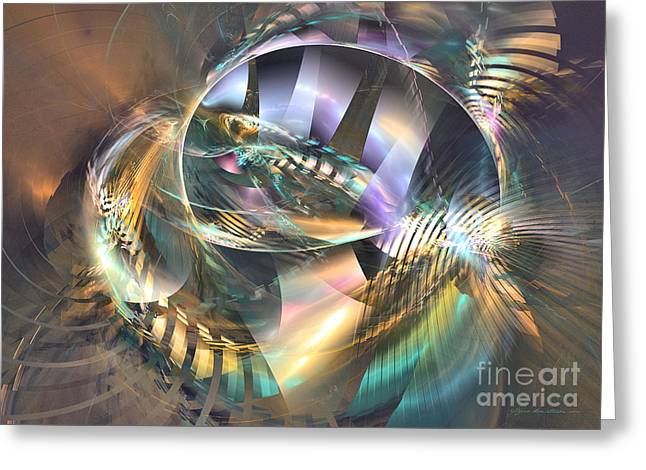 Interior Still Life Mixed Media Greeting Cards - Symphony of colors - abstract art Greeting Card by Abstract art prints by Sipo