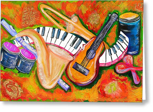 Jessilyn Park Greeting Cards - Symphony of the Soul Greeting Card by Jessilyn Park