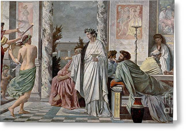 Inquiry Greeting Cards - Symposium Of Plato Greeting Card by Photo Researchers