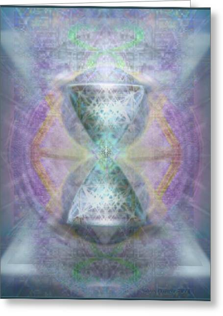 Sacred Geometry Greeting Cards - SyntheSphered Grail on Caducus Blazed Tapestrys Greeting Card by Christopher Pringer