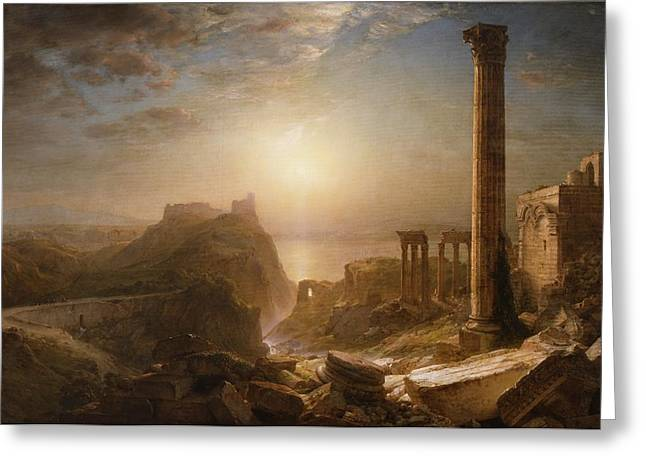 Church; Frederic Edwin (1826-1900) Greeting Cards - Syria by the Sea Greeting Card by Frederic Edwin Church