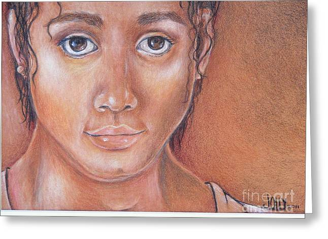 Biracial Greeting Cards - System Child Greeting Card by Jane Jolly Chappell