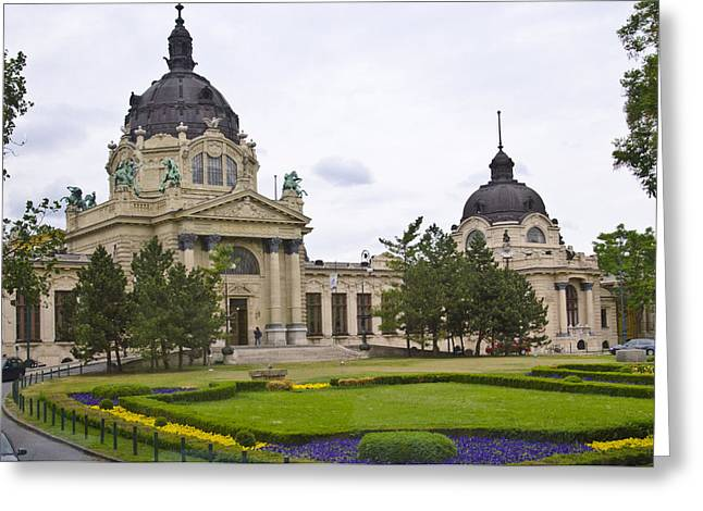 Steam Bath Greeting Cards - Szechenyli Baths - Budapest Greeting Card by Jon Berghoff