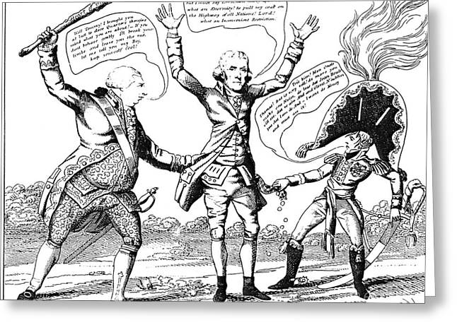 Impartial Greeting Cards - T. Jefferson Cartoon, 1809 Greeting Card by Granger