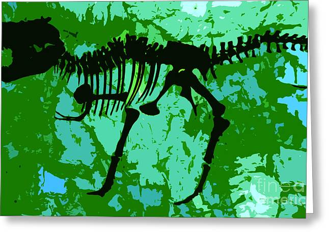 T-rex Greeting Cards - T. Rex Greeting Card by David Lee Thompson