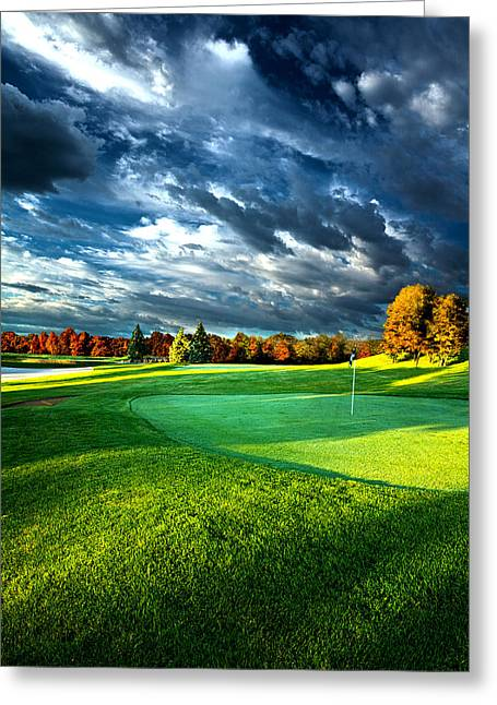 Wisconsin Golf Greeting Cards - T Time Greeting Card by Phil Koch