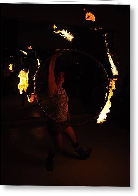 Fire Pyrography Greeting Cards - Ta dah  Greeting Card by Joseph  Cusano IV