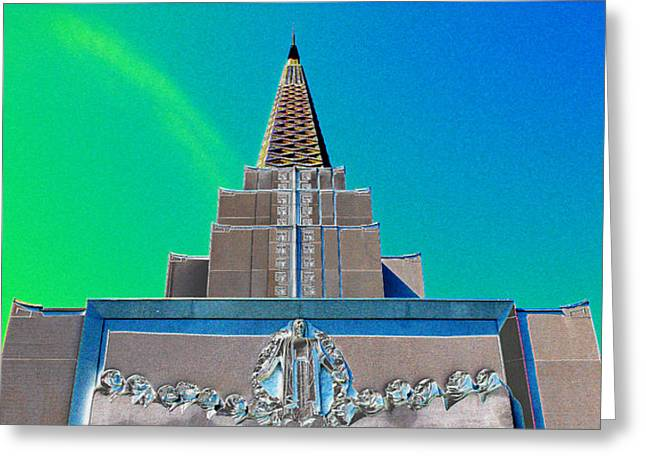 Sam Sheats Greeting Cards - Tabernacle Dream 1 Greeting Card by Samuel Sheats