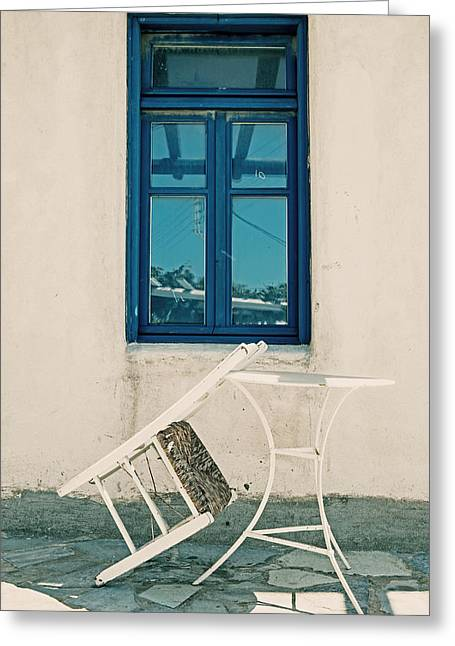 Expecting Greeting Cards - Table And Chair Greeting Card by Joana Kruse