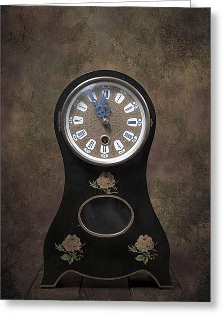 Clock Photographs Greeting Cards - Table Clock Greeting Card by Joana Kruse