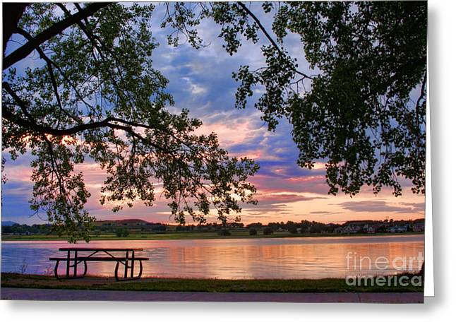Sunset Prints Greeting Cards - Table for four with a view Greeting Card by James BO  Insogna