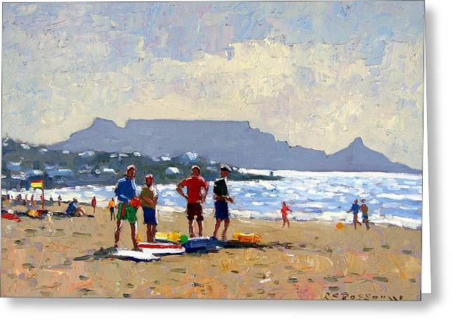 Table Mountain Cape Town Greeting Card by Roelof Rossouw