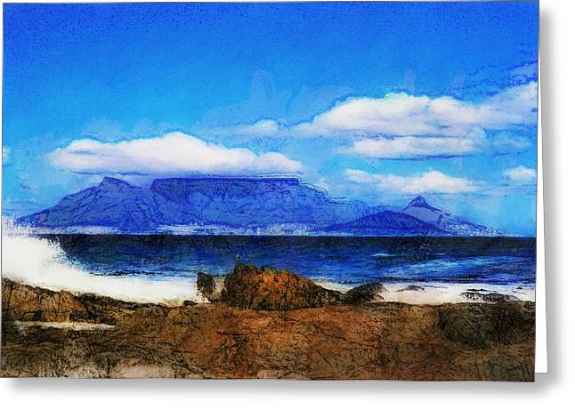 Cape Town Greeting Cards - Table Mountain Greeting Card by Douglas Barnard