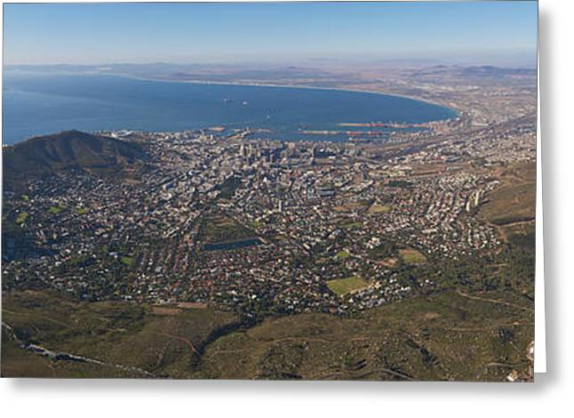Cape Town Greeting Cards - Table Mountain panorama Greeting Card by Johan Elzenga