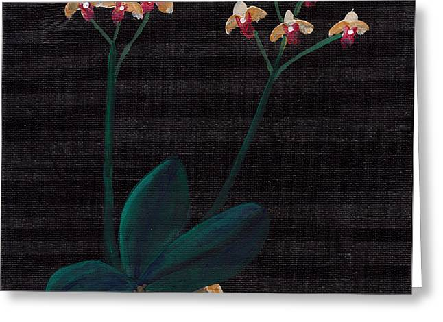 Table Orchid Greeting Card by Jose Valeriano