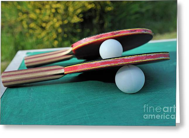 Table Tennis Racket Greeting Cards - Table Tennis Rackets Greeting Card by Sami Sarkis