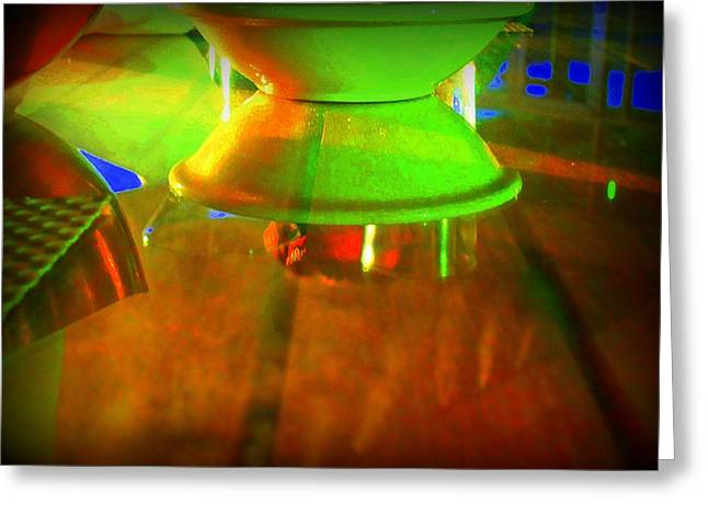 Table Topsy Turvy Greeting Card by Randall Weidner