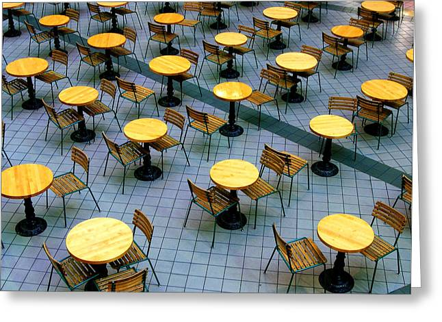 Tables and Chairs II Greeting Card by Steven Ainsworth