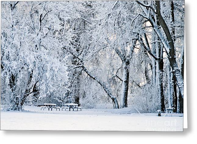 Tables With A View Greeting Card by Harry Strharsky