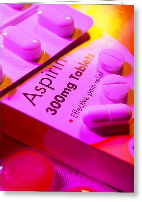 Aspirin Greeting Cards - Tablets And Lozenges Greeting Card by Mark Sykes