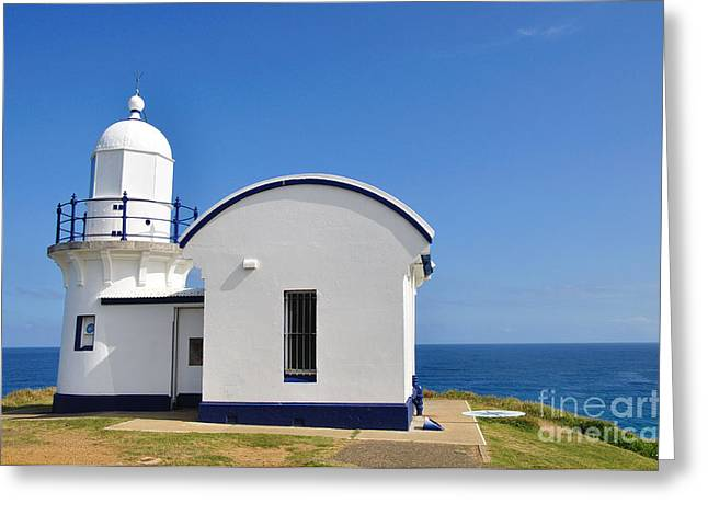 Macquarie Greeting Cards - Tacking Point Lighthouse Greeting Card by Kaye Menner
