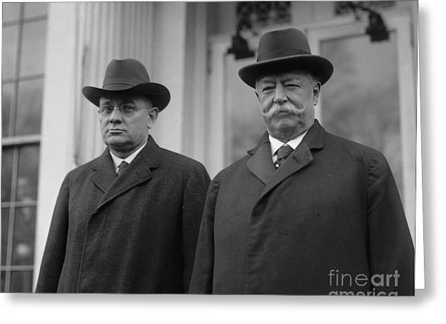 Chief Justice Greeting Cards - Taft & Butler, 1922 Greeting Card by Granger