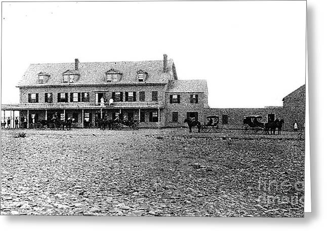 Historical Pictures Greeting Cards - Tafts Hotel 1830 Greeting Card by Extrospection Art