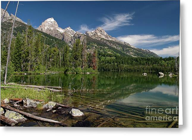 Pond Grand Tetons Greeting Cards - Taggart Lake visit www.AngeliniPhoto.com for more Greeting Card by Mary Angelini
