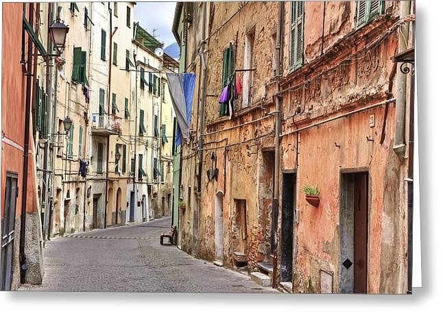 Taggia in Liguria Greeting Card by Joana Kruse