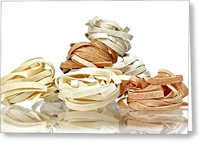 Noodles Greeting Cards - Tagliatelle Greeting Card by Joana Kruse