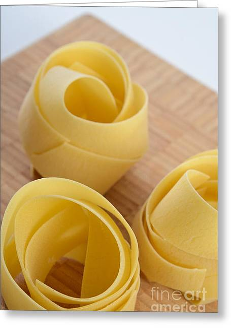Noodles Greeting Cards - Tagliatelle Pasta Greeting Card by Photo Researchers, Inc.