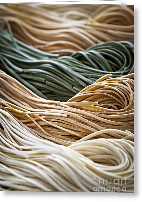 Various Greeting Cards - Tagliolini pasta Greeting Card by Elena Elisseeva