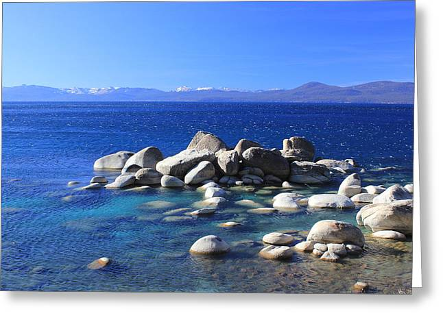 Iphonesia Greeting Cards - Tahoe East Shore 1 Greeting Card by Mickey Hatt