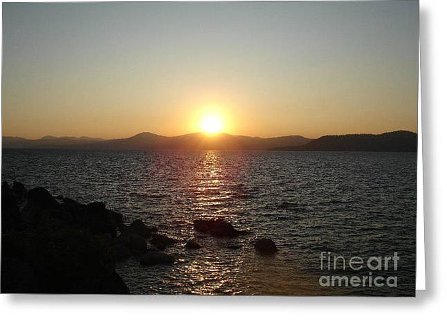 Tahoe Sunset Greeting Card by Silvie Kendall