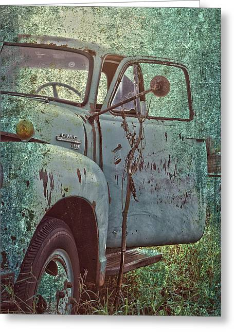 Old Trucks Greeting Cards - Tailgate Date  Greeting Card by Jerry Cordeiro