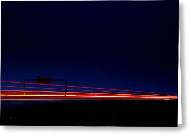 Road Trip Photographs Greeting Cards - Taillights  Greeting Card by Cale Best