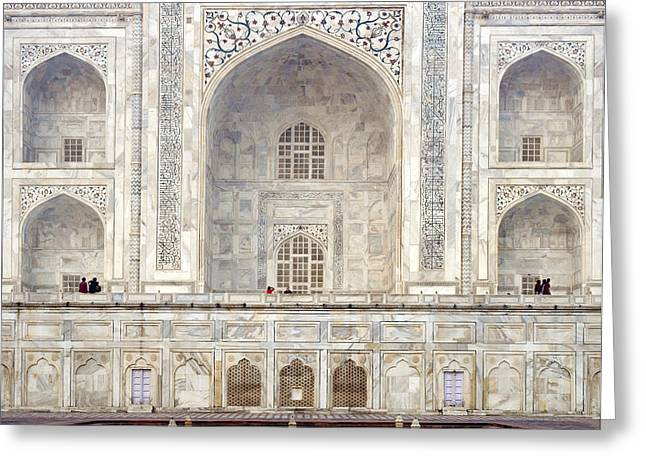 Taj Mahal II Greeting Card by Nina Papiorek