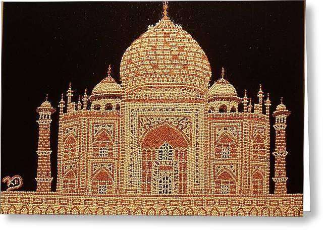 Famous Reliefs Greeting Cards - Taj Mahal Greeting Card by Kovats Daniela